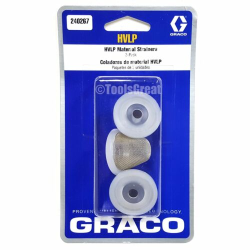 New Graco 240267 HVLP Edge II Spray Gun Qt Cup Filter Strainer