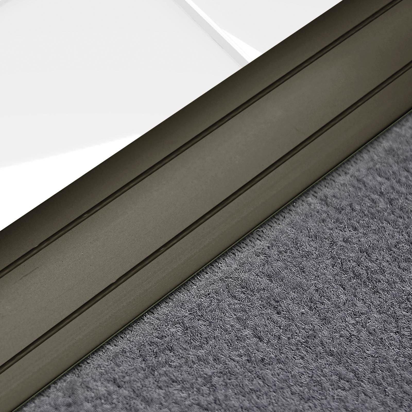 Alu Übergangsprofil Teppichschiene Schweller Laminat Parkett Profil flach 36mm  Bronze