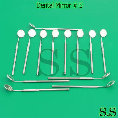 25 Pcs Dental Mouth Mirror 5 Ent Surgical Dental Instruments