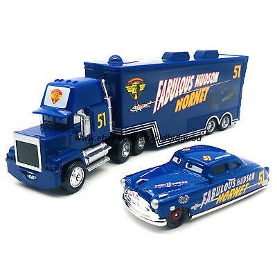 Disney Pixar Cars Fabulous Doc Hudson Hornet Hauler Truck 1:55 Diecast Model Toy