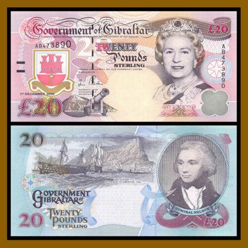 Gibraltar 20 Pounds, 2006 P-33 Queen Elizabeth II Unc