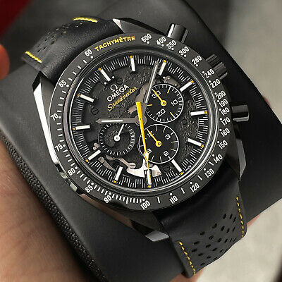 Omega Speedmaster Apollo 8 Dark Side Of The Moon DSOM Black Ceramic Men's Watch
