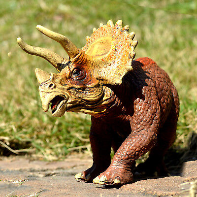 8'' Triceratops Dinosaur Trike Figure Educational Toy Collectible Birthday - Large Toy Dinosaurs