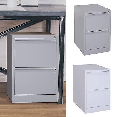 28 Steel Metal 2 Drawer Home Office Under Desk Filing Cabinet With Lock