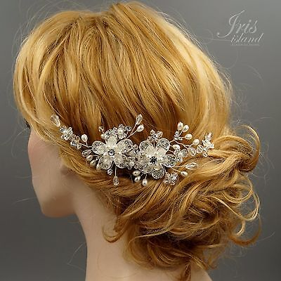 Bridal Hair Comb Pearl Crystal Headpiece Hair Clip Wedding Accessories 00556 S