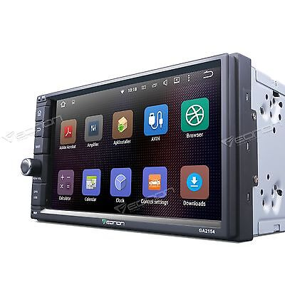 """Double 2Din 7"""" Quad-core Android 5.1 in Car Stereo 1024x600 GPS Nav Touch A RDS"""