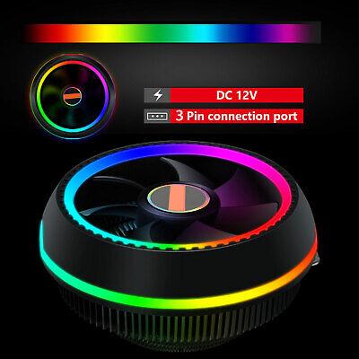 RGB LED CPU Cooler Fan Heatsink for Intel 1156/1155/1151/115