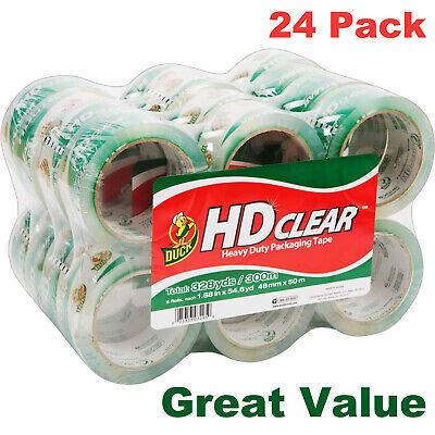 Duck Hd Clear Heavy Duty Packaging Tape Refill 24 Rolls 1.88 Inch X 54.6 Yard