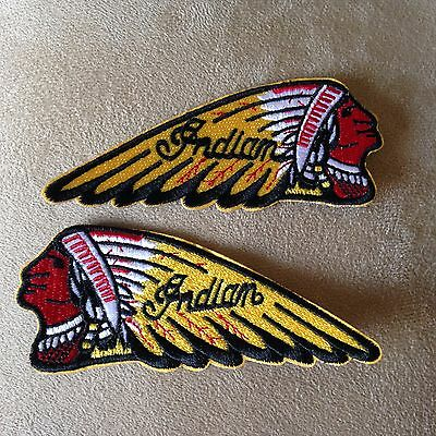 ? INDIAN MOTORCYCLE Head Logo Iron-on PATCH SET For Leather/Vest/Sweater/Shirt