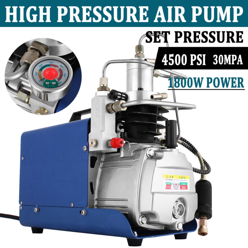 YONG HENG AutoShut Air Compressor Pump 30Mpa 110V Electric Air Pump PCP 4500PSI
