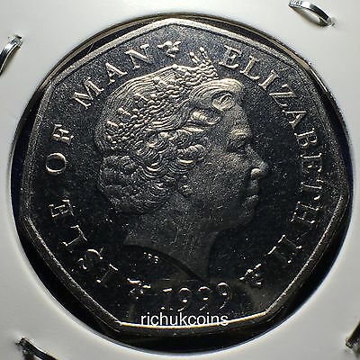1999 T.T. Commemorative 50p Coin Reverse (left made in 1990s & right made in 2000s)