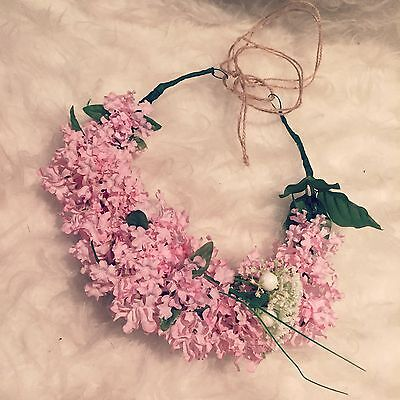 FLOWER HEADBAND CROWN HAIR PIECE FLORAL HEAD PIECE HALO WREATH EDM FESTIVAL HAIR (Edm Headbands)