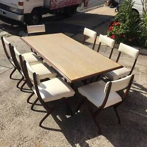 vintage/retro dining suite,8 seater dining suite WE CAN DELIVER