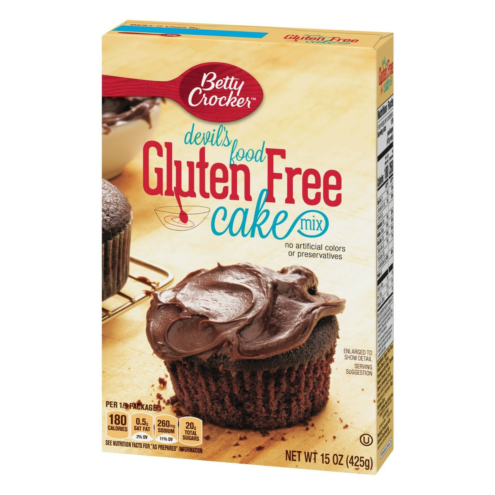 BETTY CROCKER GLUTEN  FREE DEVIL'S FOOD CAKE MIX - 15oz - PA