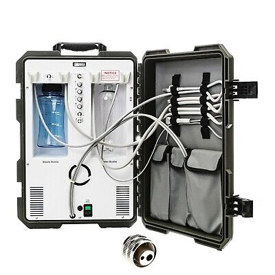 Dental Portable Delivery Unit System Rolling Compressor Suction 2h Connections