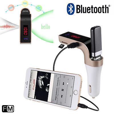 Bluetooth Auto Zigarettenanzünder USB Ladegerät  FM Musik Radio Player für Handy