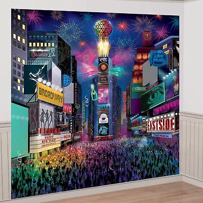 Happy New Year Times Square York slefie Foto Hintergrund Party Dekorations Set