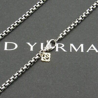 "David Yurman Necklace Box Chain 3.6mm  32""L With 14k Gold"