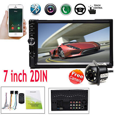 "2Din 7"" Car MP5 Player Touch Screen In Dash Stereo Radio HD BT & Backup Camera"