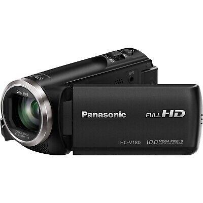 "Panasonic Hc V180 Camcorder Full HD 2.7"" Display - Black (Used Once) (No Box)"
