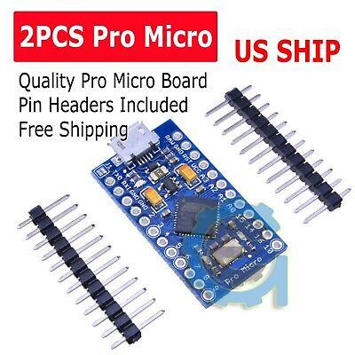 2x Leonardo Pro Micro Atmega32u4 5v16mhz Replace Atmega328 Arduino Pro Mini