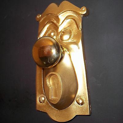 1 Alice In Wonderland Life Size Doorknob Face, Working Movie Prop