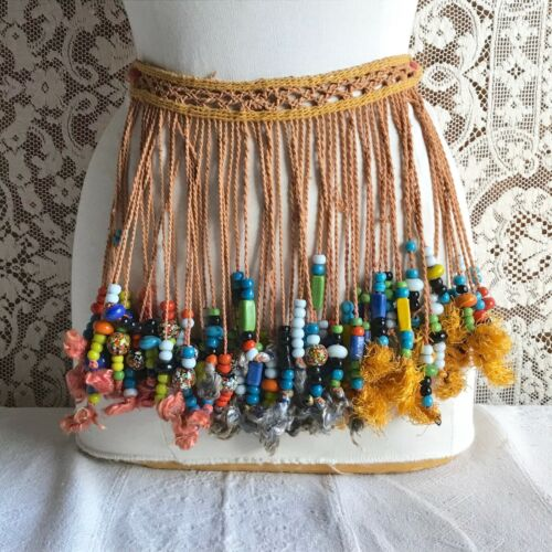 African Traditional Tribal Beaded Modesty Apron Cache Sex