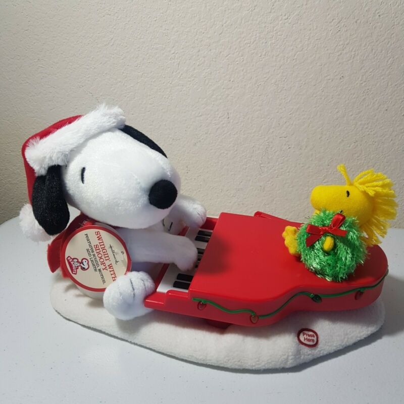 Hallmark Swinging With Snoopy And Woodstock Motion Music Lights TESTED WORKS!!
