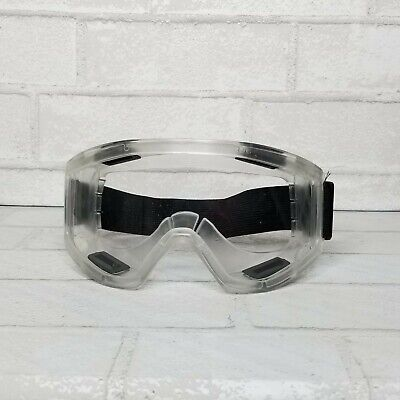 Safety Goggles Over Glasses Lab Work Eye Protective Eyewear Clear Lens Nib