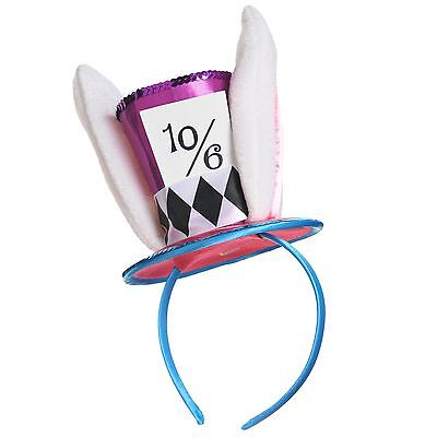 Adult Mad Hatter Headband Wonderland Rabbit Fancy Dress Costume Alice Accessory (Mad Hatter Headband)