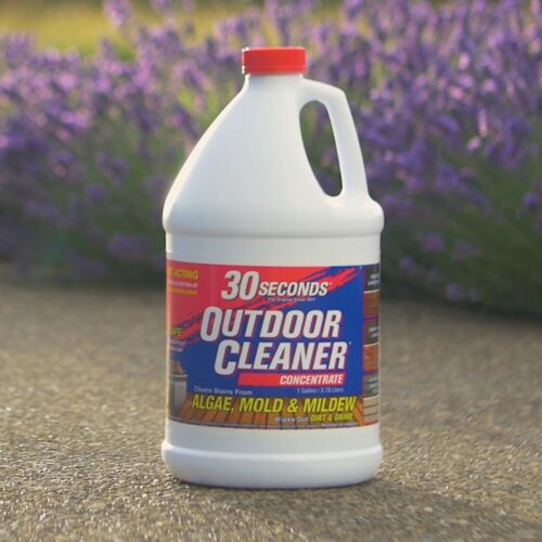 30 SECONDS Outdoor Cleaner For Stains From Algae, Mold And Mildew 1 Gallon Conce