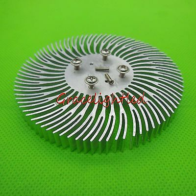1pc 90x10mm Round Spiral Aluminum Alloy Heat Sink For 1w-10w Led Silver White
