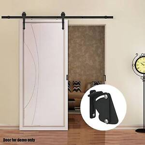 Sliding Barn Door Hardware Set 2M Closet Track with Latch Lock Croydon Burwood Area Preview