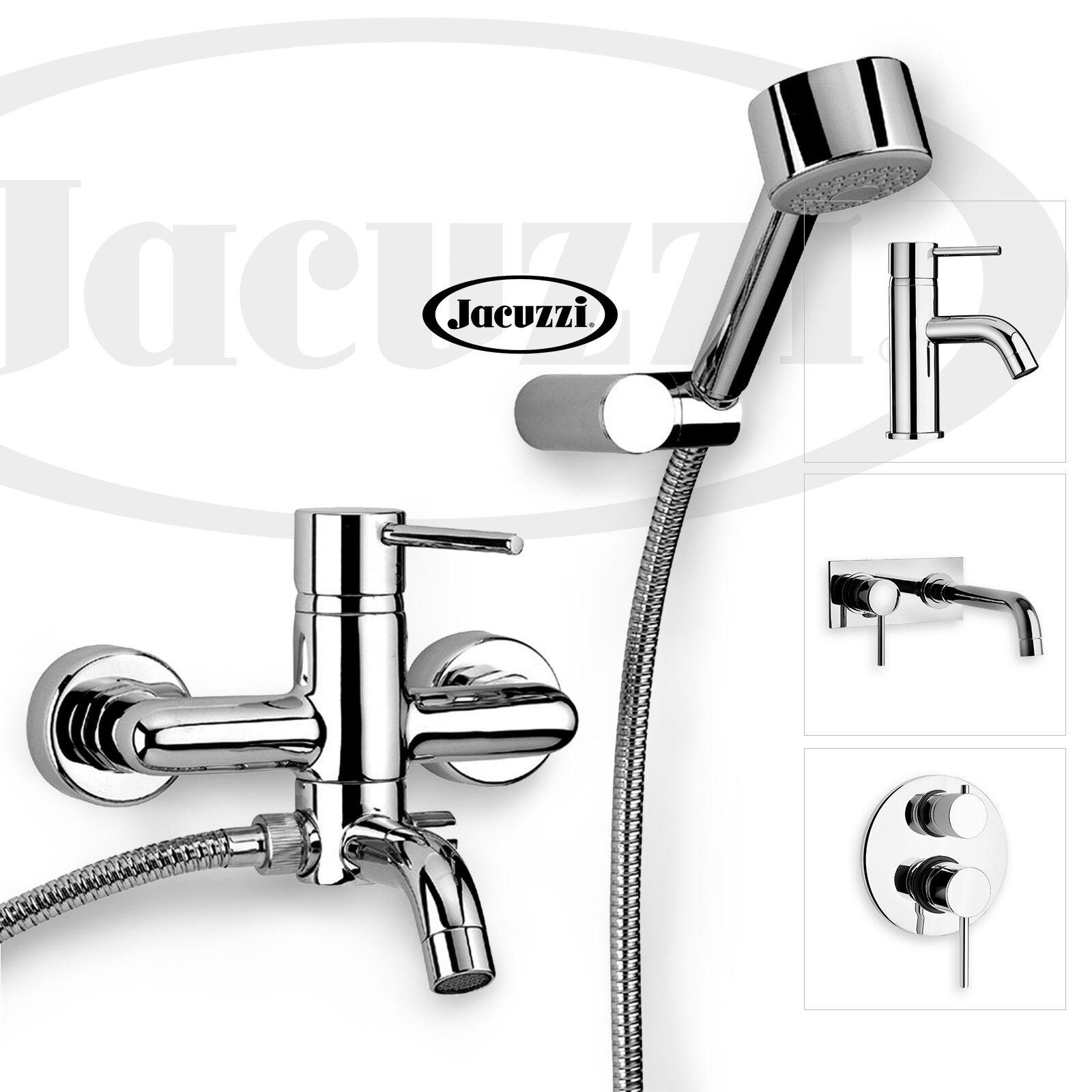 Miscelatore bagno ottone cromato rubinetto lavabo bidet doccia vasca Jacuzzi