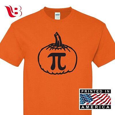 Threadrock Pumpkin Pi T-shirt Gift Cool Geek Funny Halloween Orange Nerd Sm-3Xl](Halloween Pumpkins Cool)