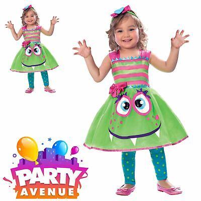 Childrens Girls Cute Monster Fancy Dress Halloween Costume - Cute Girl Monster Kostüm