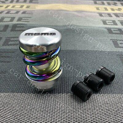 Racing MOMO Universal Silver+Neo Chrome Gear Shift Knob Metal Shifter Lever Head Chrome Gear Shift Knob