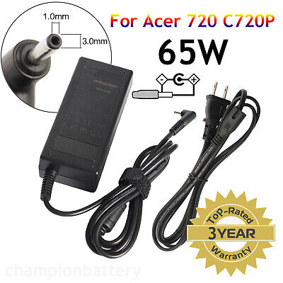 65W 19V 3.42A AC Adapter Charger For Acer Chromebook Aspire Iconia One Cloudbook
