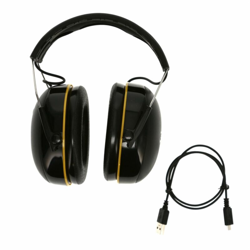 USE 3M WorkTunes Connect Hearing Protector with Bluetooth Technology in Black