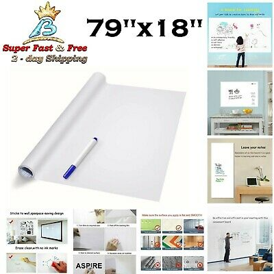 Dry Erase Whiteboard Sticker Wall Decal School Office Home Kids Drawing Art 79