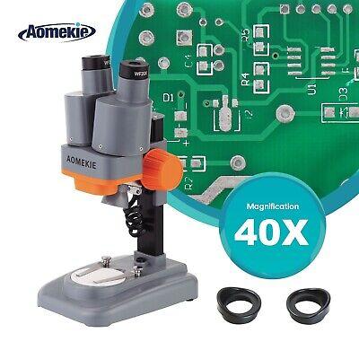 40x Binocular Stereo Microscope Top Led For Pcb Soldering Mobile Phone Repair