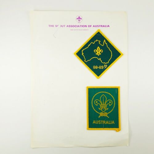 2pc Boy Scout of Association Australia 88-89 and No Date Patch