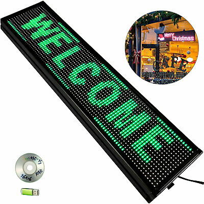 40 X 8 Led Sign Scrolling Green Outdoor Led Signs Massage Advertising Board