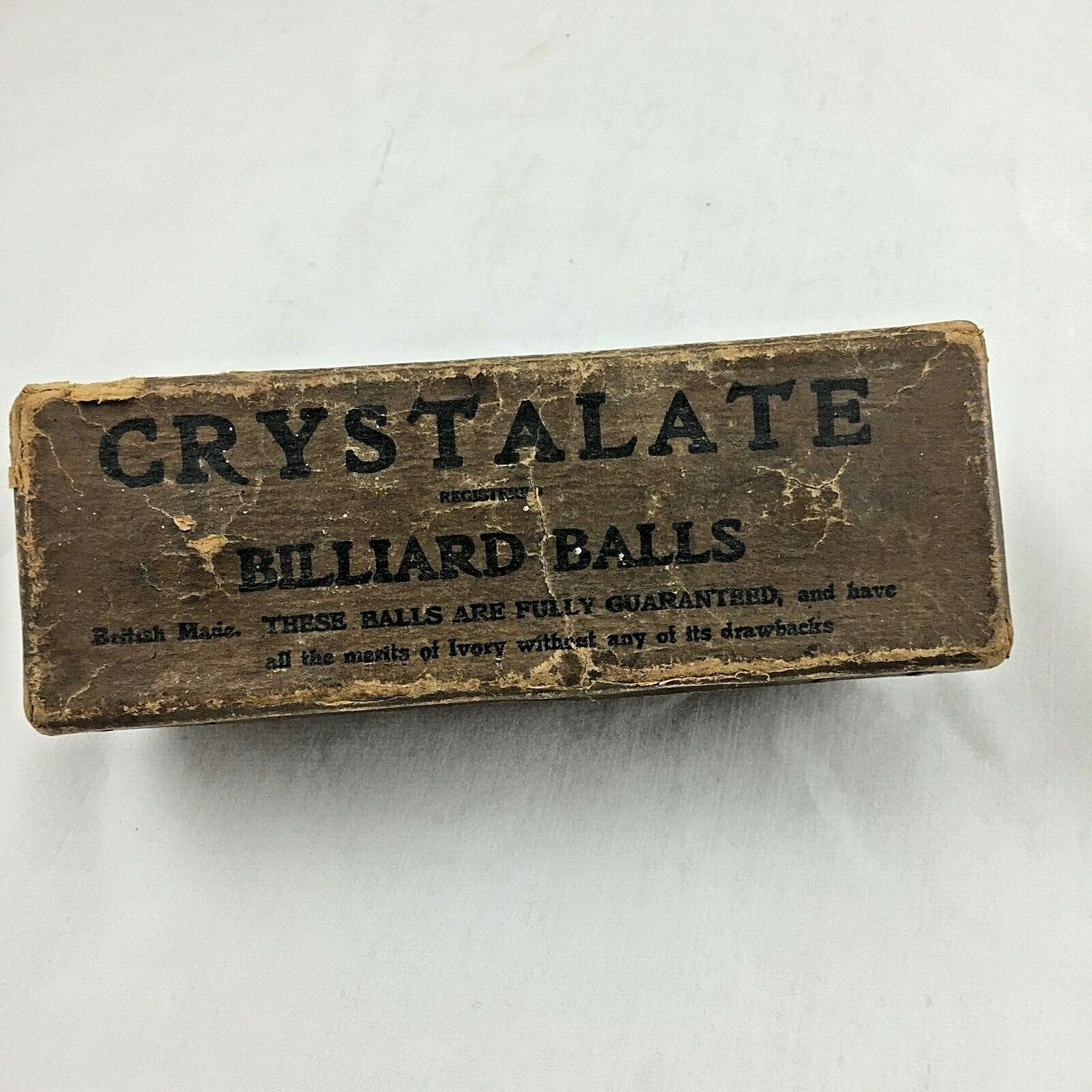 Vintage CRYSTALATE Billiard Balls ~ Original Box -