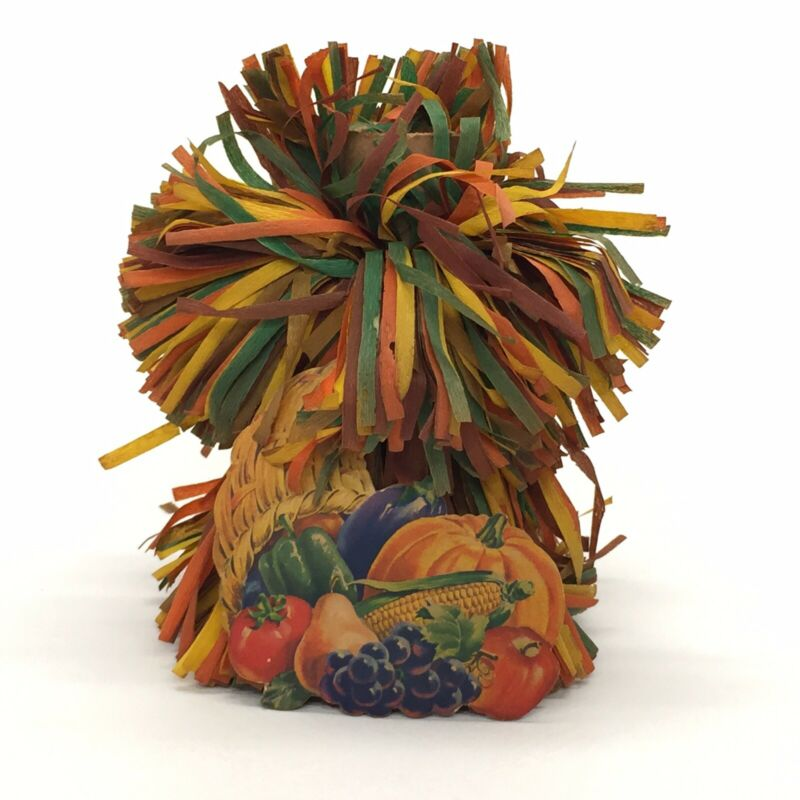Vintage Paper Fall Halloween Thanksgiving Table Haystack Decoration Diecut 5.5""