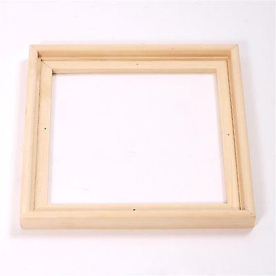 2 SCHATTENFUGEN LEISTEN Holz Bilderrahmen für Leinwände & Keilrahmen 30 x 30 cm