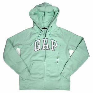 Gap Womens Zip Up Hoodie Sweatshirt Applique Arch Logo xs s m l xl xxl