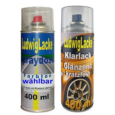 Spraydosen Misanorot LZ3M 1x Autolack 1x Klarlack je 400ml für Audi FreiHaus - 3m Spray