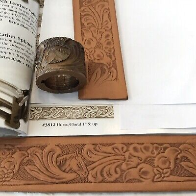 Embossing Roll # 3812 Horse/Floral, Tandy Leather Factory