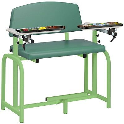 Clinton Pediatric X-wide Blood Draw Phlebotomy Chair Animal Spring Garden Padded